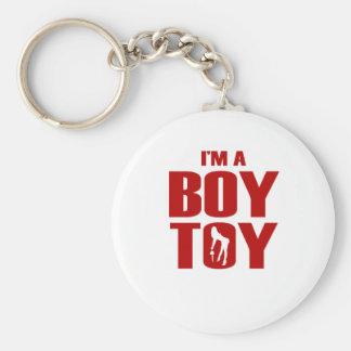 Funny Boy Toy Basic Round Button Key Ring