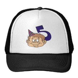 Funny Boys 5th Birthday Gifts Trucker Hat