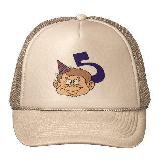 Funny Boys 5th Birthday Gifts Cap