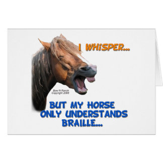 Funny Braille Horse Card