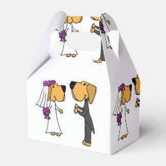 Funny Bride and Groom Labrador Retriever Art Party Favour Boxes