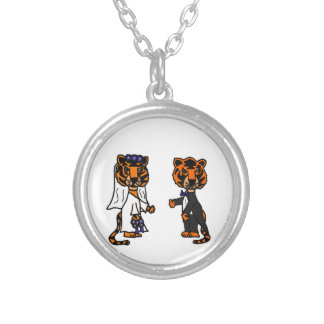 Funny Bride and Groom Tiger Wedding Art Jewelry