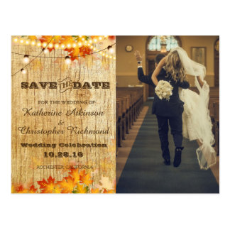 funny bride kidnapping/leafs,autumn,fall, postcard