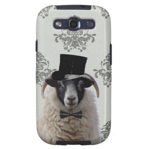 Funny bridegroom sheep in top hat samsung galaxy SIII covers