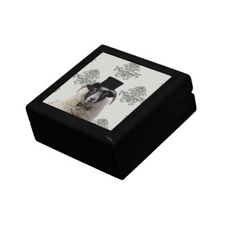 Funny bridegroom sheep in top hat gift box