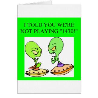 funny bridge player design card