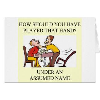funny bridge player joke design card