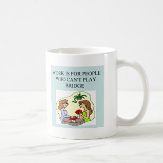 funny bridge player joke design coffee mug