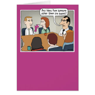 Funny Bright Idea Boss's Day card