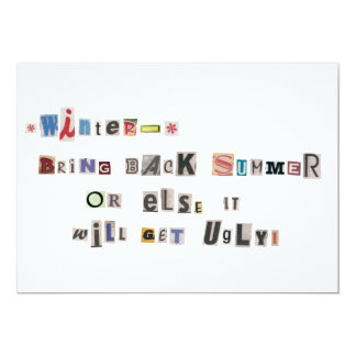 Funny Bring Back Summer Ransom Note Collage 13 Cm X 18 Cm Invitation Card