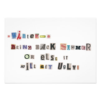 Funny Bring Back Summer Ransom Note Collage Cards