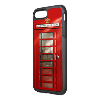 Funny British City Of London Red Phone Booth OtterBox Symmetry iPhone 8 Plus/7 Plus Case