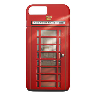 Funny British Red Telephone Box Personalized iPhone 7 Plus Case