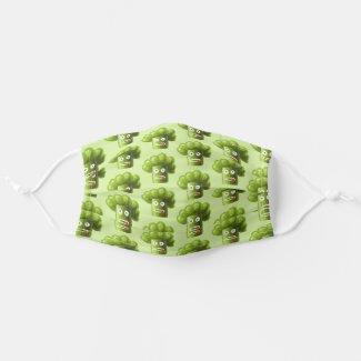 Funny Broccoli Cartoon Healthy Food Vegetarian Cloth Face Mask