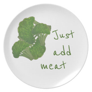 Funny broccoli dinner plate
