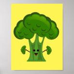 Funny Broccoli Poster