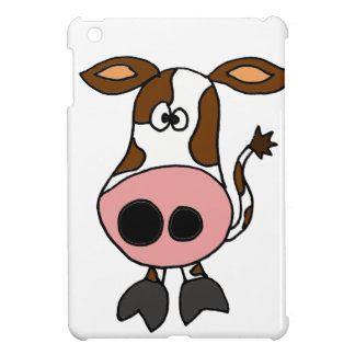 Funny Brown and White Cow Cartoon Case For The iPad Mini