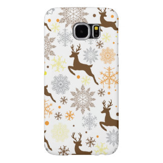 Funny Brown Christmas Pattern Samsung Galaxy S6 Cases