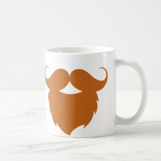 Funny Brown Mustache Coffee Mug