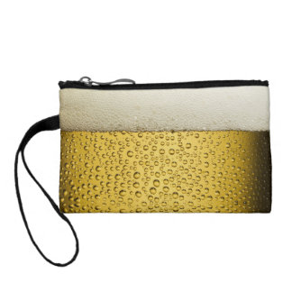 Funny Bubbles Beer Glass Gold Change Purses