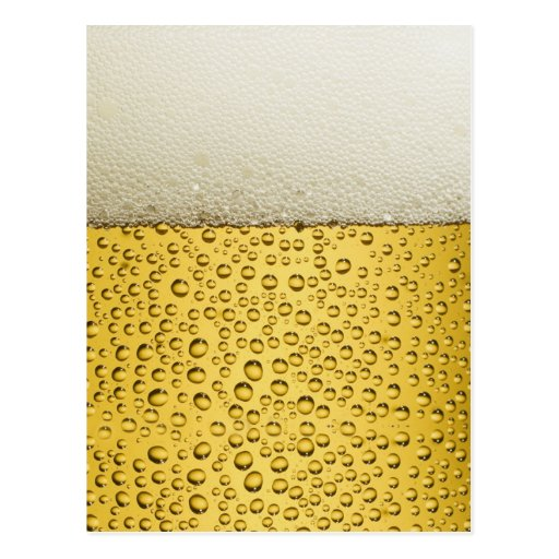 Funny Bubbles Beer Glass Gold Postcard