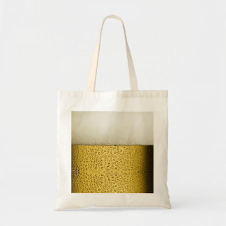 Funny Bubbles Beer Glass Gold Tote Bag