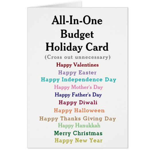 Funny Budget Holiday Card