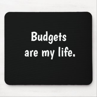 Funny Budget Quote Budgeting Accountant Quotation Mouse Mat