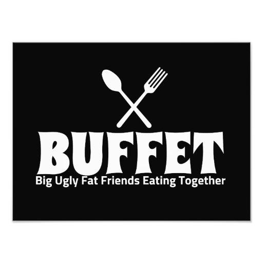 Funny Buffet Acronym Saying Photo
