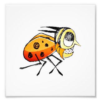 Funny Bug Running Hand Drawn Illustration Photo Art