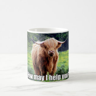Funny Bull How May I Help You Coffee Mug