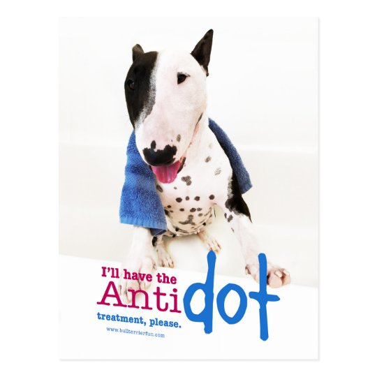 Funny Bull Terrier Photo Greeting Card