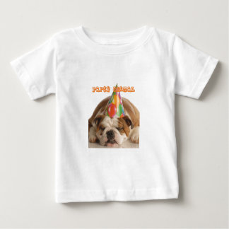 Funny Bulldog Gifts-Party Animal Sleeping Bulldog Baby T-Shirt