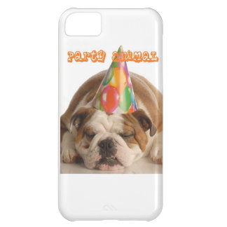 Funny Bulldog Gifts-Party Animal Sleeping Bulldog iPhone 5C Case