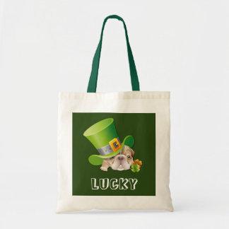 Funny Bulldog Leprechaun St.Patrick's Day Bags