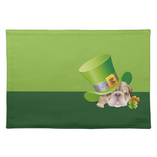Funny Bulldog. St.Patrick´s Day Gift Placemat