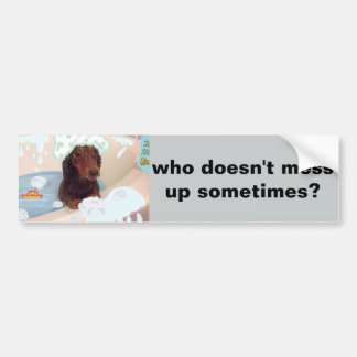 funny bumper sticker for animal lovers