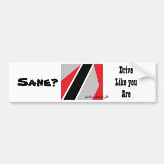 Funny bumper stickers-sanity bumper sticker