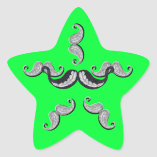 Funny Bunch of Star Moustache Stickers