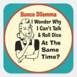 Funny Bunco Dilemma With Retro Woman