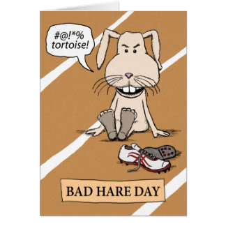 Funny Bunny: Bad Hare Day Greeting Card