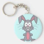 Funny Bunny Basic Round Button Key Ring