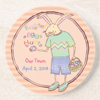 Funny Bunny Easter Egg Hunt Coaster