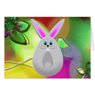 Funny Bunny Egg Greeting Card