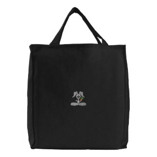 Funny Bunny Embroidered Tote Bag