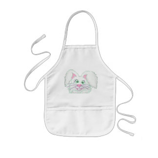 Funny Bunny Face Apron
