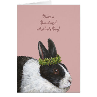 Funny Bunny Mother's Day card