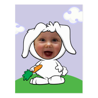 Funny Bunny Rabbit Photo Face Template Postcard
