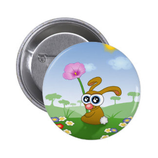 Funny bunny sitting in grass pin