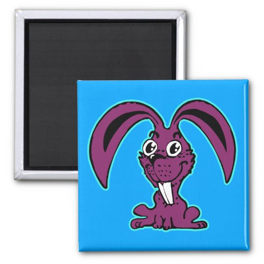 funny bunny sweet rabbit cartoon magnet